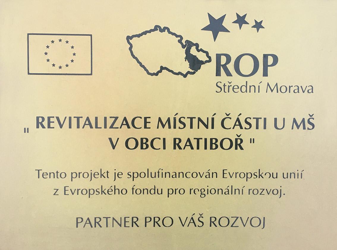 Revitalizace místní části u mateřské školy v obci Ratiboř