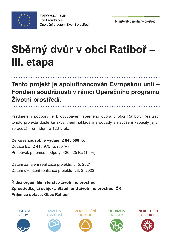 Sběrný dvůr v obci Ratiboř – III. etapa