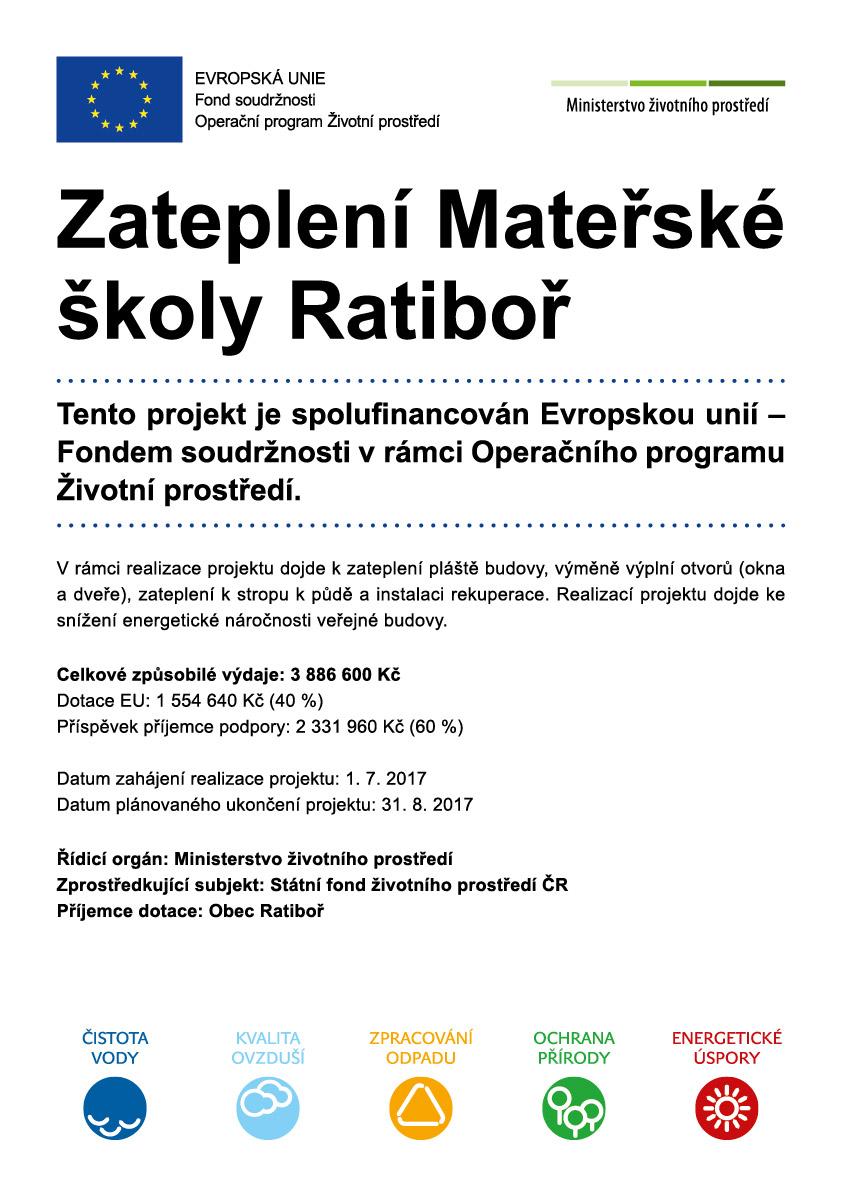 Zateplení Mateřské školy Ratiboř