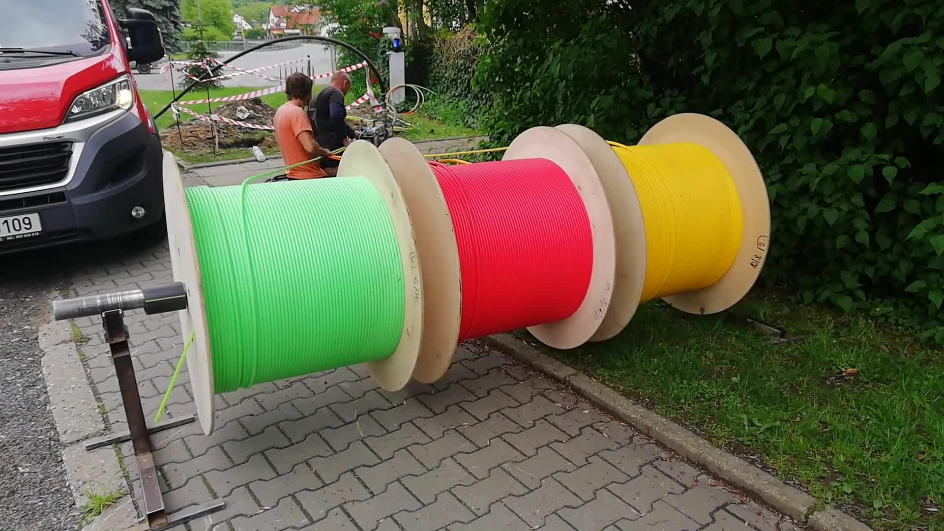 Zafoukávání optických kabelů v Ratiboři
